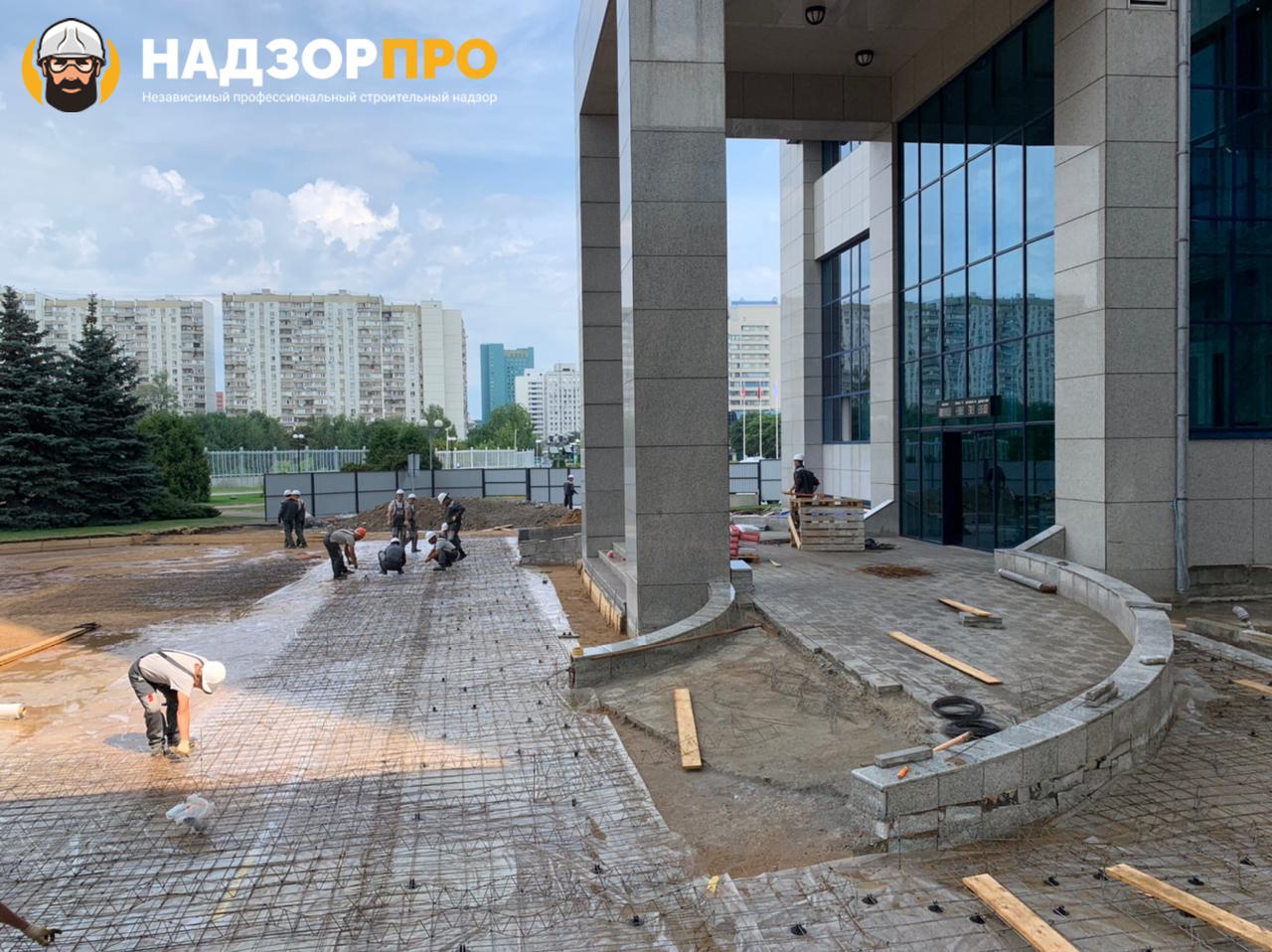 Технадзор за объектом Газпром приемка основания под плитку